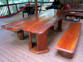 silky oak dining table
