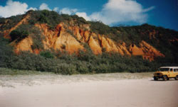 colored sands on fraser island