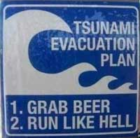 evacutaion sign