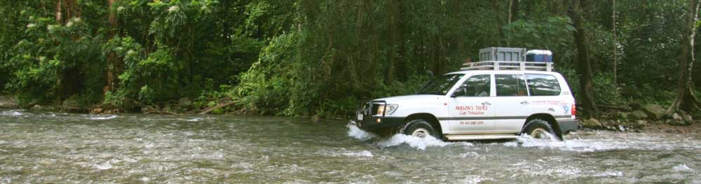 four wheel drive tour with masons tours in cape tribulation in australlia